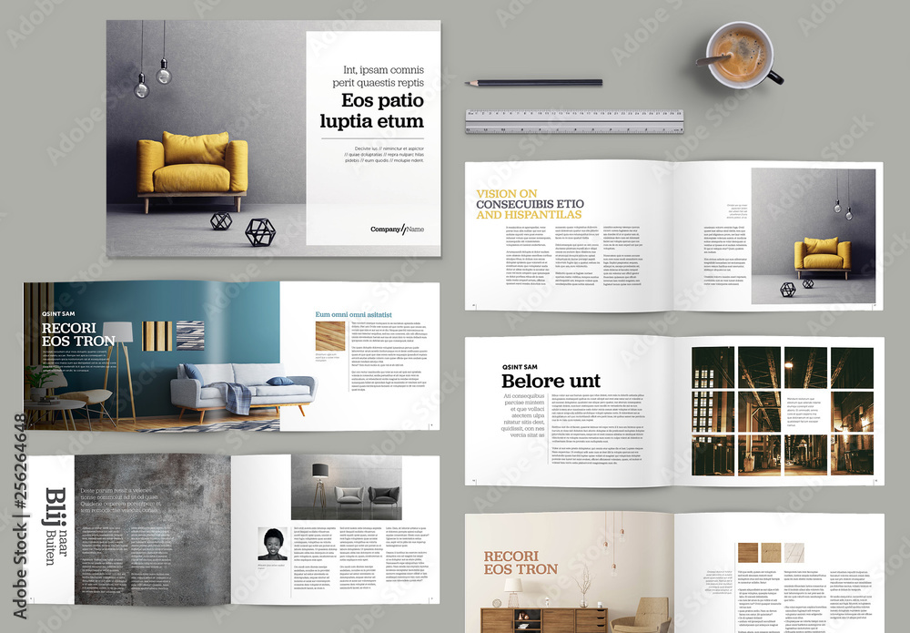Fototapety, obrazy: Brochure with Yellow Accents