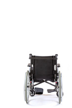 Image Of Wheelchair Isolated On White Background Back View
