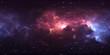 360 degree stellar system and nebula. Panorama, environment 360 HDRI map. Equirectangular projection, spherical panorama