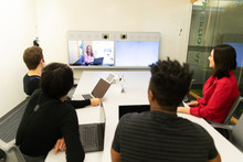 Video Conference For Remote Wo...