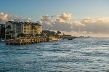 USA, Florida, Key West, Seafront Of Key West At Sunset