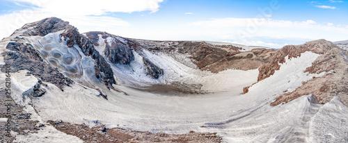 Fényképezés  Escriva crater on volcano Etna in snow in winter, Sicily, Italy