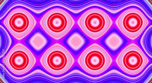 Psychedelic symmetry abstract pattern and hypnotic background,  artistic swirl Canvas Print