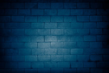 Blue Block Wall