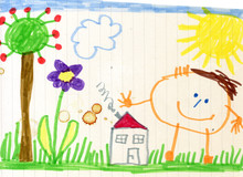 Child's Drawing, Happy Child, ...