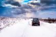 4x4 in snow, Scotland.