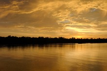 Sunset Over The River Selangor, Kampung Kuantan Firefly Park, Malaysia, Asia