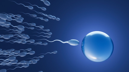 Futuristic sperms on the wa...