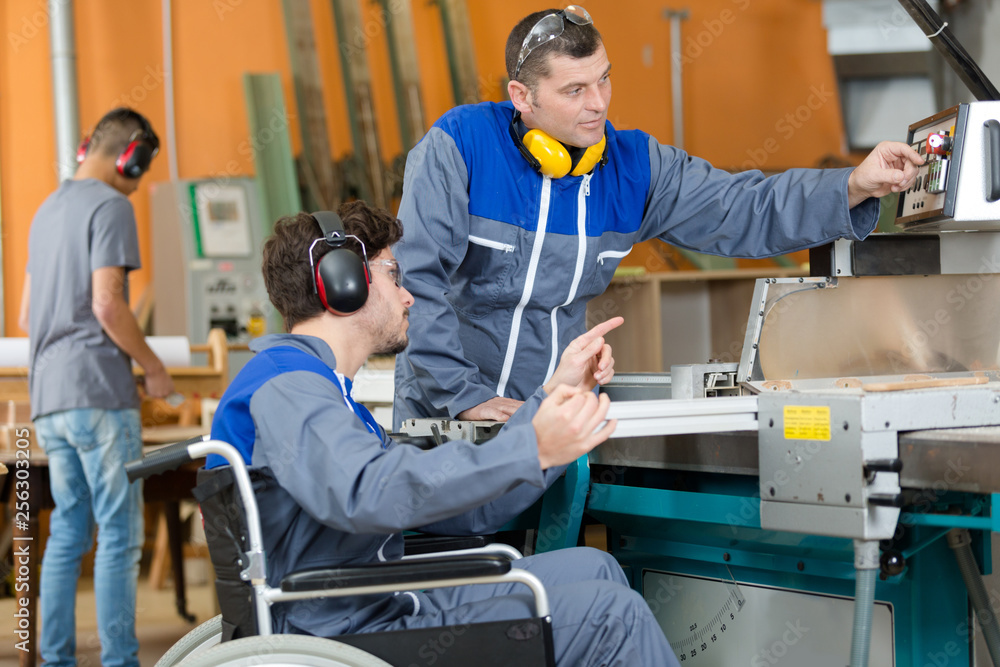 Fototapety, obrazy: disabled worker in factory