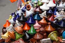 Many Coloured Tajines For Sale...