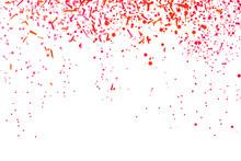 Colored Confetti On White. Int...