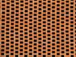 Leinwanddruck Bild - decorative red brick wall.