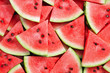 canvas print picture - heap of watermelon slices as background