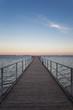 Germany, Ruegen, Dranske, Sea Bridge in the morning light