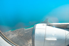 View From Window Of An Airplane