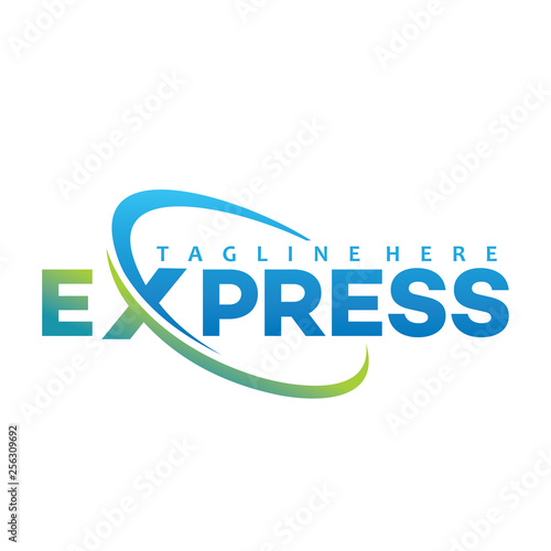 Photo express logo letter
