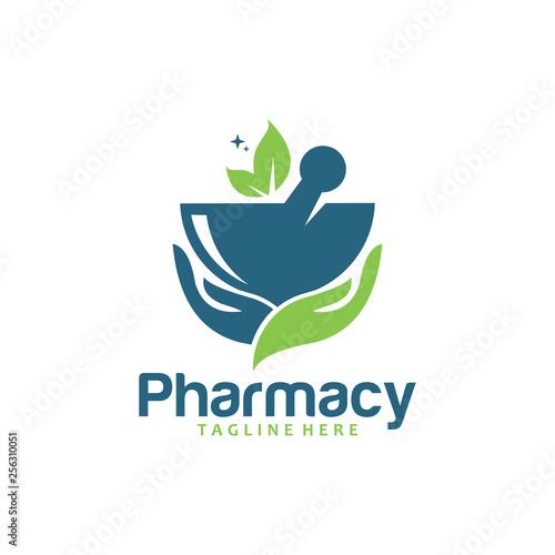 Pharmacy logo icon Canvas Print