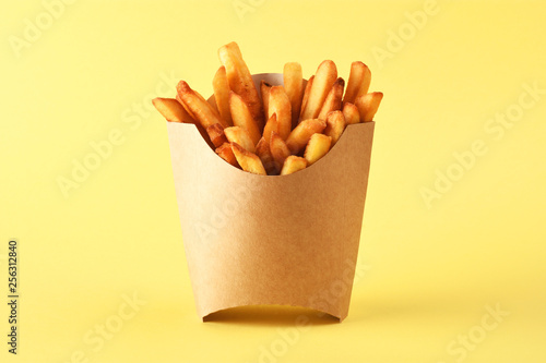 Photo  French fries in kraft french fry box