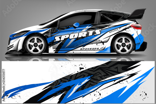 transportation, design, vehicle, race, vector, geometric, mockup, automobile, tr Fototapet