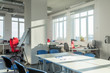 Interior of a bright office room