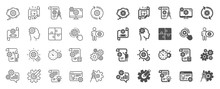 Engineering Line Icons. Set Of...