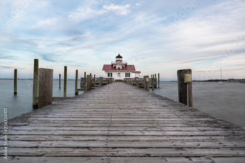 Restored lighthouse building in Manteo North Carolina along the outer banks Fototapeta