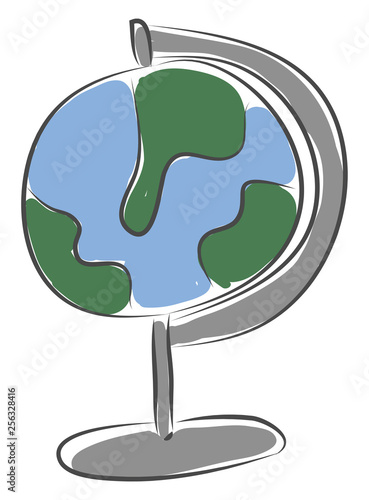 Fotografia  Simple picture of the globe vector illustration on white background