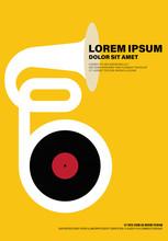 Music Poster Modern Vintage Retro Style
