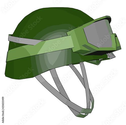 Fotografía  A combat helmet vector or color illustration