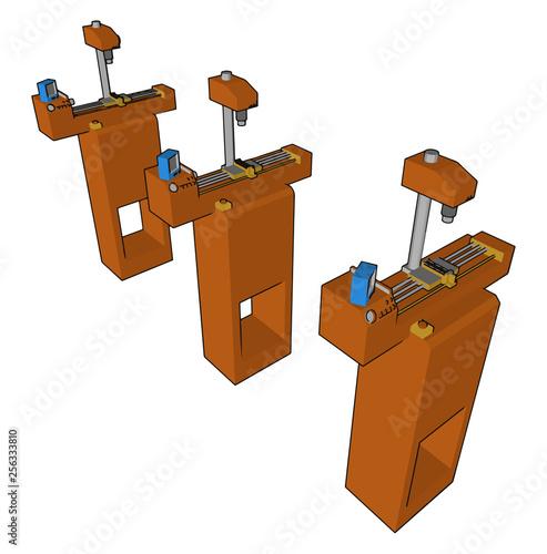 Fotografía  A type of marking machine vector or color illustration