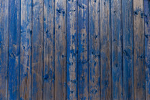 Wooden Texture With Old Peeling Paint Blue