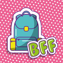 Bff Cute Backpack School Dots ...