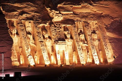 Fototapeta Abu Simbel, Egypt, Pharaoh, Nile, Hieroglyphs, Frescoes