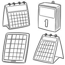 Vector Set Of Calendar