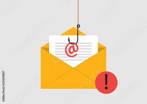 Fotomural Illustration of Phishing Attack on email