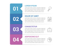 Infographic Template With 4 St...