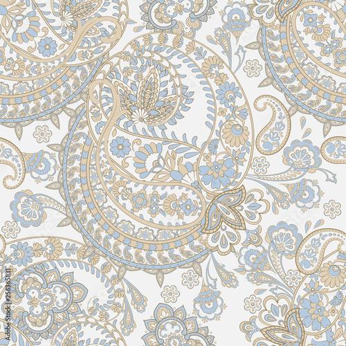 Fototapeta paisley seamless pattern. damask vector background
