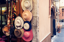 Hats For Sale In A Shop Of Tao...