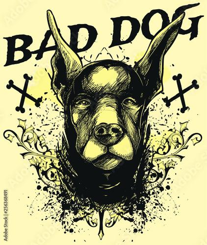 Bad dog Wallpaper Mural