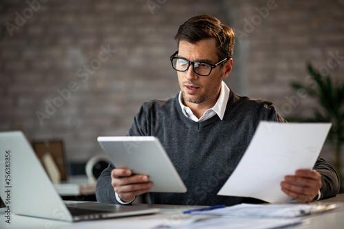 Multi-tasking businessman at work!