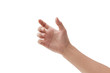 canvas print picture - man hand holding something on white background