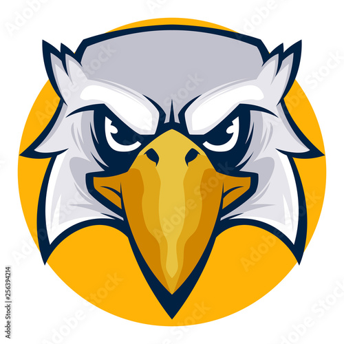 angry eagle head vector illustration esports logo Tablou Canvas