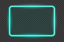 Shining Neon Frame Isolated On A Transparent Background