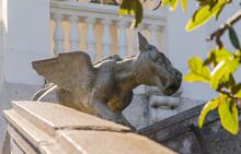 Stone Statue Of Chimera