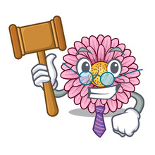 Judge Gerbera Flowers In The Cartoon Shape