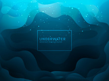 Fluid Shape Abstract Underwater Vector Design