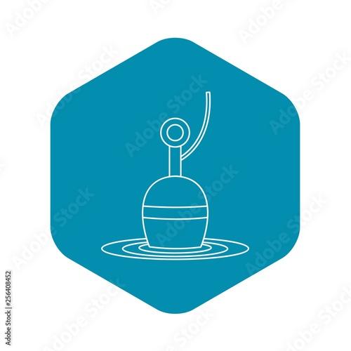 Obraz na plátně  Bobber icon. Outline illustration of bobber vector icon for web