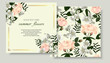 Set of Vector banners with Luxurious jasmine and rose flowers. Template for greeting cards, wedding decorations, invitation, sales, packaging. Spring or summer design. Floral poster, invite.