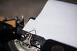 typewriter. typing - happy