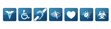 Blue Medical Symbols